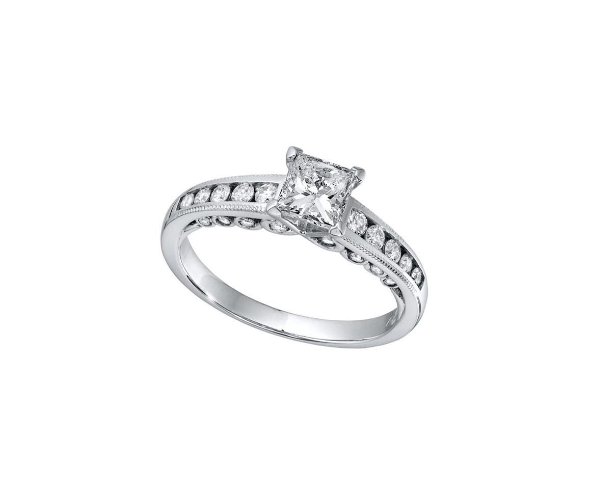 Eloquence 1 00ctw Diamond Engagement Ring Charm Centre Princess Cut Fancy