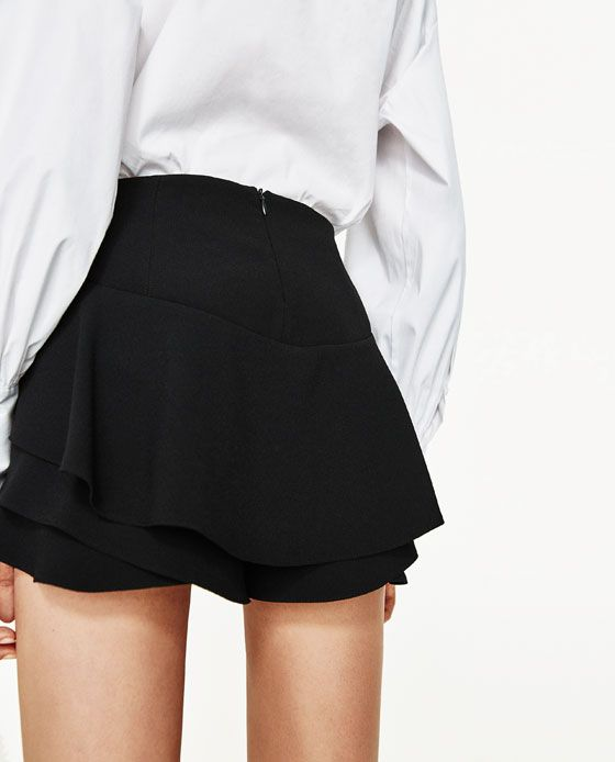 b9066f51 Image 3 of FLOWING FRILLED SHORTS from Zara Zara, Brunch, Going Out, Skort