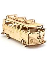 VW Volkswagen Camper Van Bus 3D Puzzle Birch Plywood Laser Craft