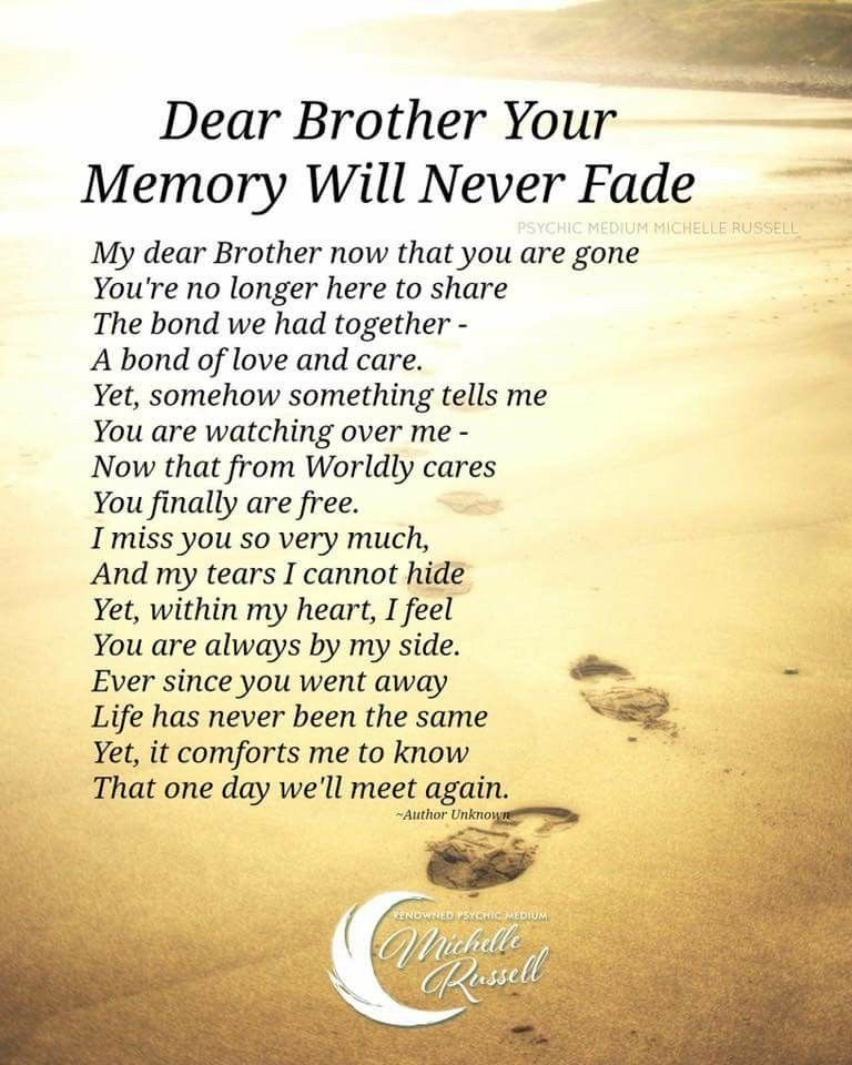 I Will Never Get Over The Loss Of My Brother For That Is Something I Am Now Convinced My Brother Quotes Remembering Brother Big Brother Quotes