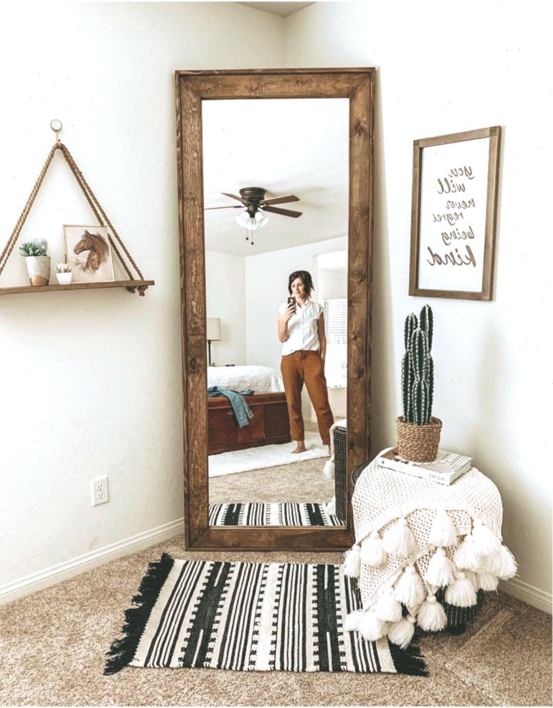 Mirror Wood Mirror Full Length Mirror Bedroom Master Bedroom Boho Farmhouse B Bedroom Door Design Full Length Mirror In Bedroom Farmhouse Bedroom Decor