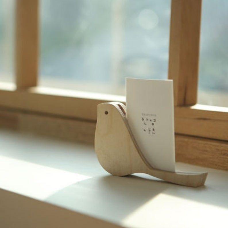 Photo of Visitenkarten-Etui [Vogel] / Visitenkarte Stand / Aufruf Kartenhalter / Besuch Kartenhalter / Büro liefert / Schulutensilien