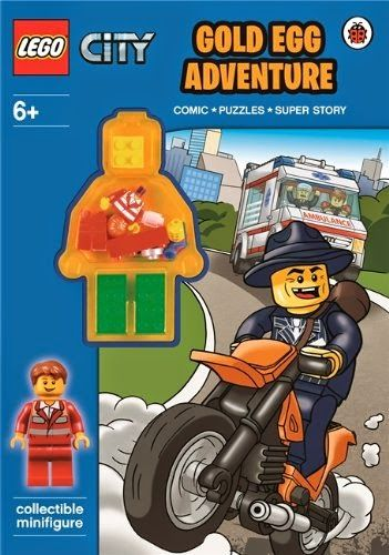 New LEGO City Book arrival-LEGO CITY: Gold Egg Adventure Activity Book with Minifigure [Paperback]      Paperback: 32 pages     Publisher: Ladybird (1 May 2014)     Language: Unknown     ISBN-10: 072329125X     ISBN-13: 978-0723291251     Product Dimensions: 27.4 x 20.1 x 0.3 cm