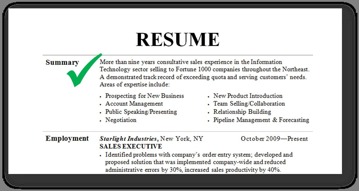 The 20 Best Ideas for Good Resume Summary (With images