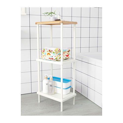 brand new 45c1c a04ad IKEA DYNAN White, Bamboo Pattern Shelf unit | New Digs ...