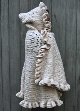 Poncho Cape Mit Kapuze Häkeln Hooded Cape Crochet Free Pattern