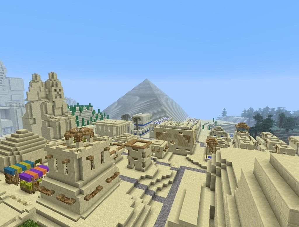 Egyptian City With Images Minecraft Houses Minecraft