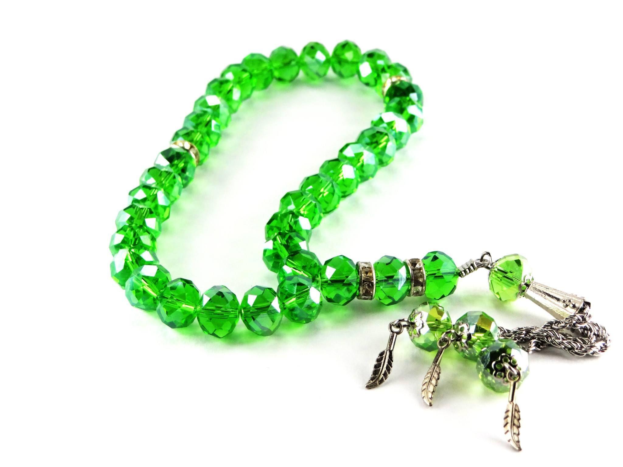 33 Bead Acrylic Crystal Tesbih Crystal Beads Crystals Beaded Bracelets