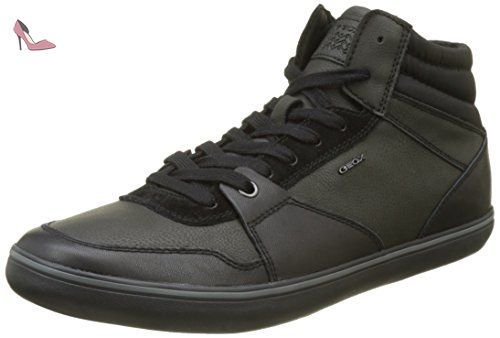 Geox J Alonisso C, Sneakers Hautes Garçon, Schwarz (Black