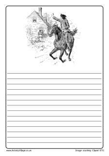 Us History Colouring Pages Paul Revere S Ride American History