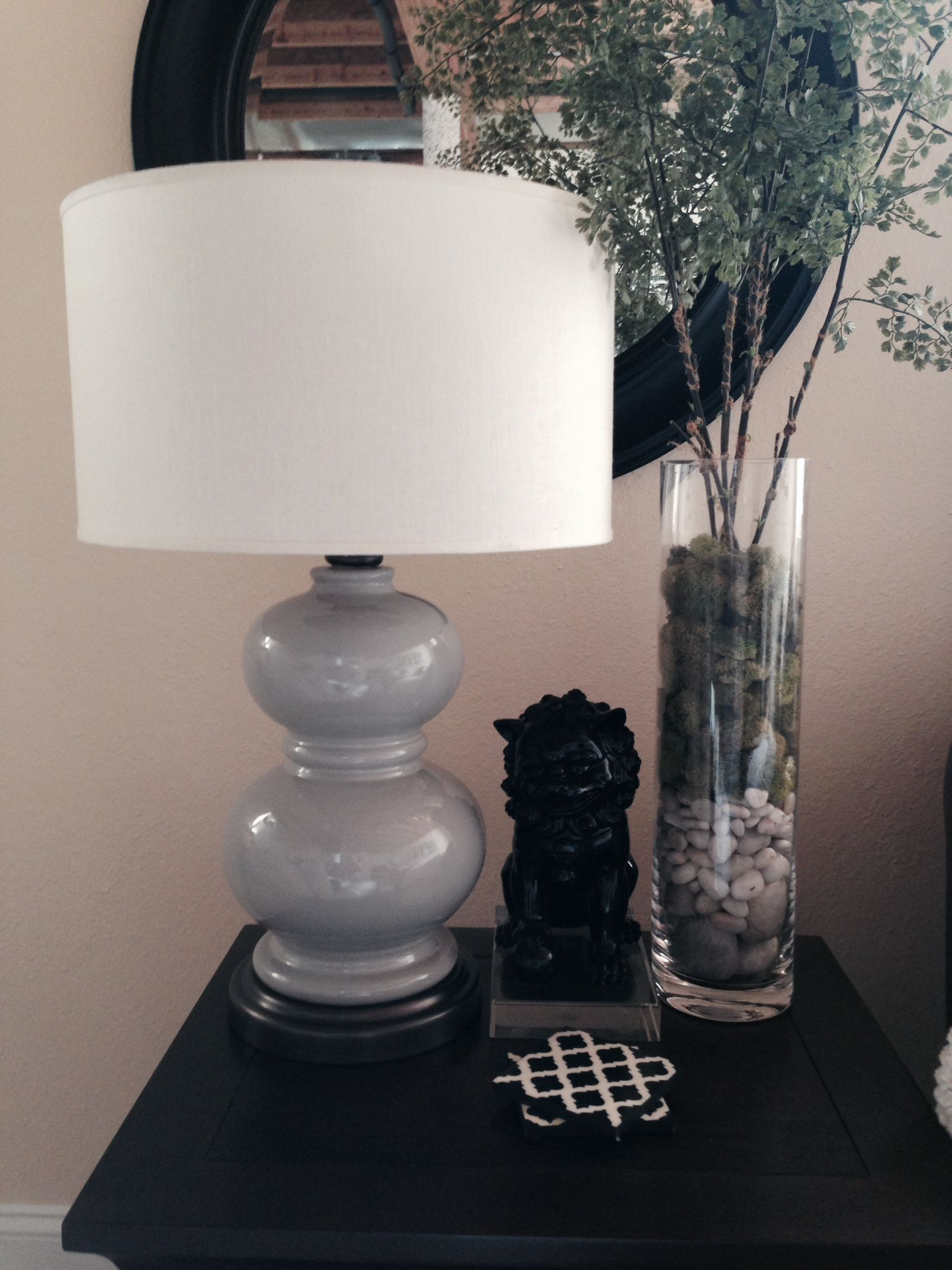 Pottery Barn Alexis lamp (was porcelain blue, I spray painted it ...
