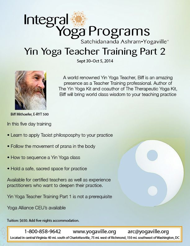 Yin Yoga Workshop Flyer