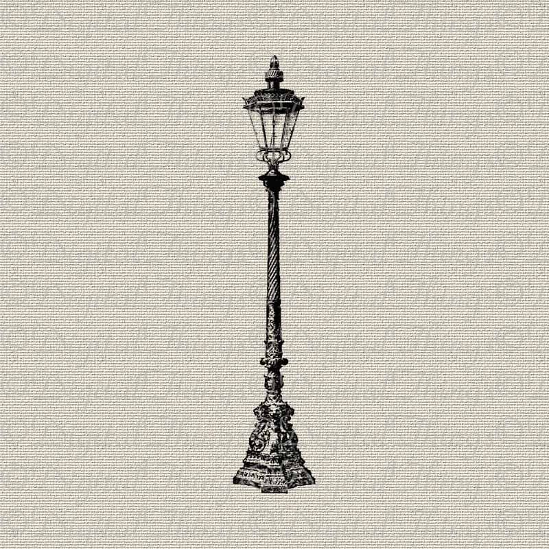 Vintage Lamp Post Outdoor Light Wall Decor Art Printable