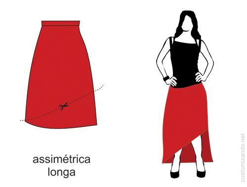 f4ceabfbdc 10 tipos de cortes para customizar saia longa