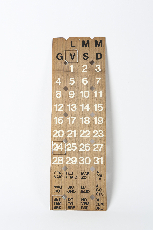 Calendario Enzo Mari.Calendario Perpetuo Enzo Mari Danese 1961 Courtesy