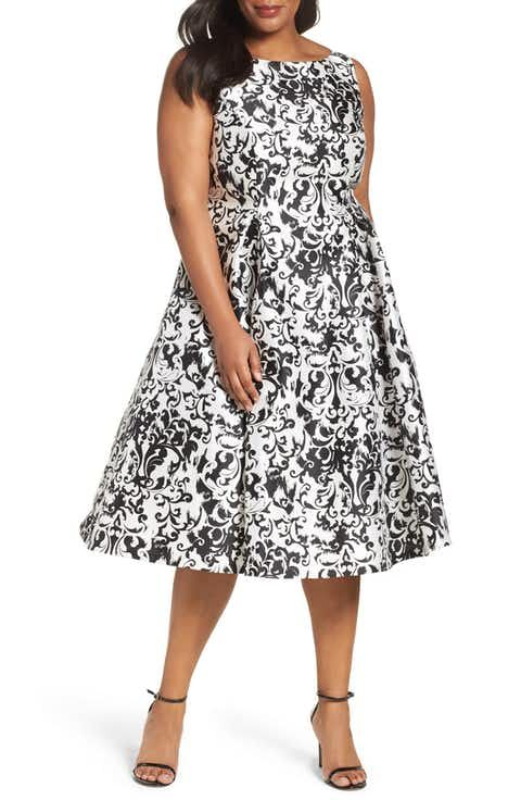 Adrianna Papell Fit & Flare Dress (Plus Size) | giyim | Pinterest ...