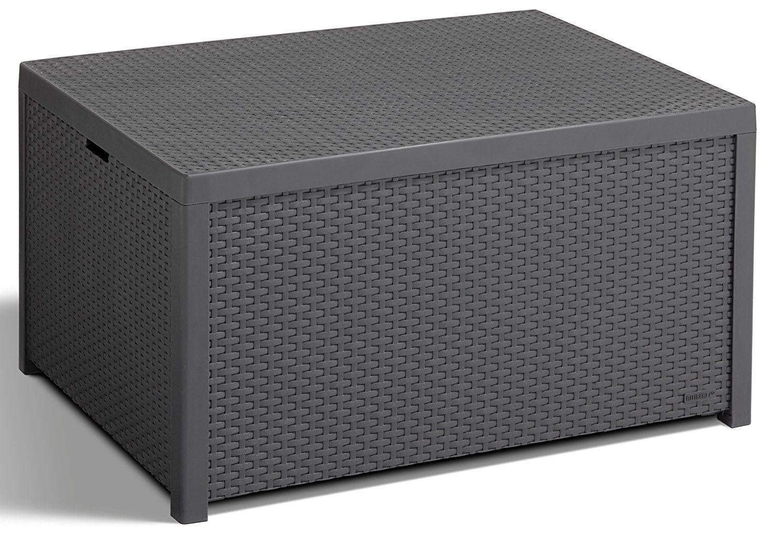 Keter 218865 Allibert Arica Outdoor Storage Box - Graphite: Amazon ...