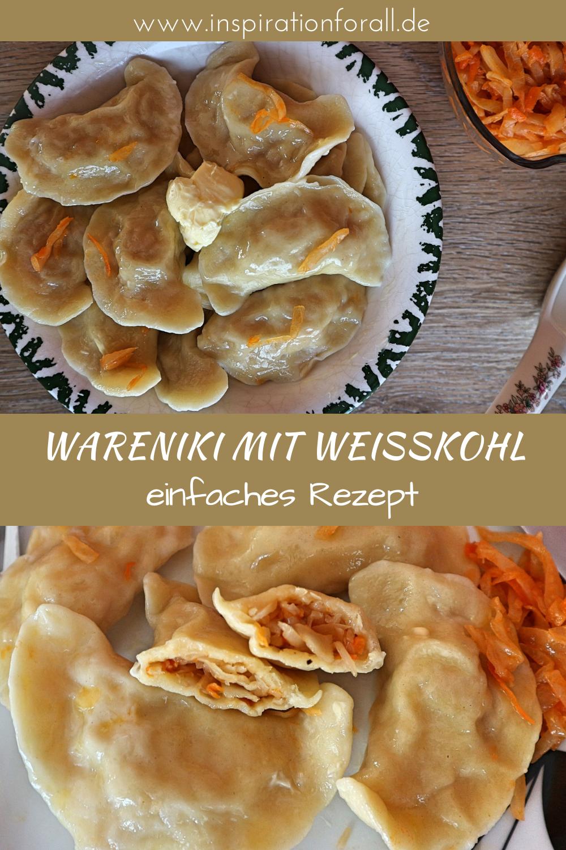 Wareniki mit Weißkohl - Rezept für russische ...