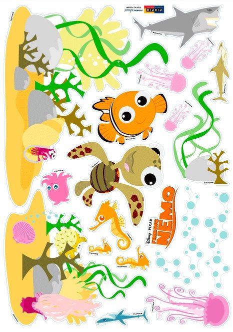 Finding Nemo Nursery Home Decor Mural Art Point Wall Sticker DS377 ...