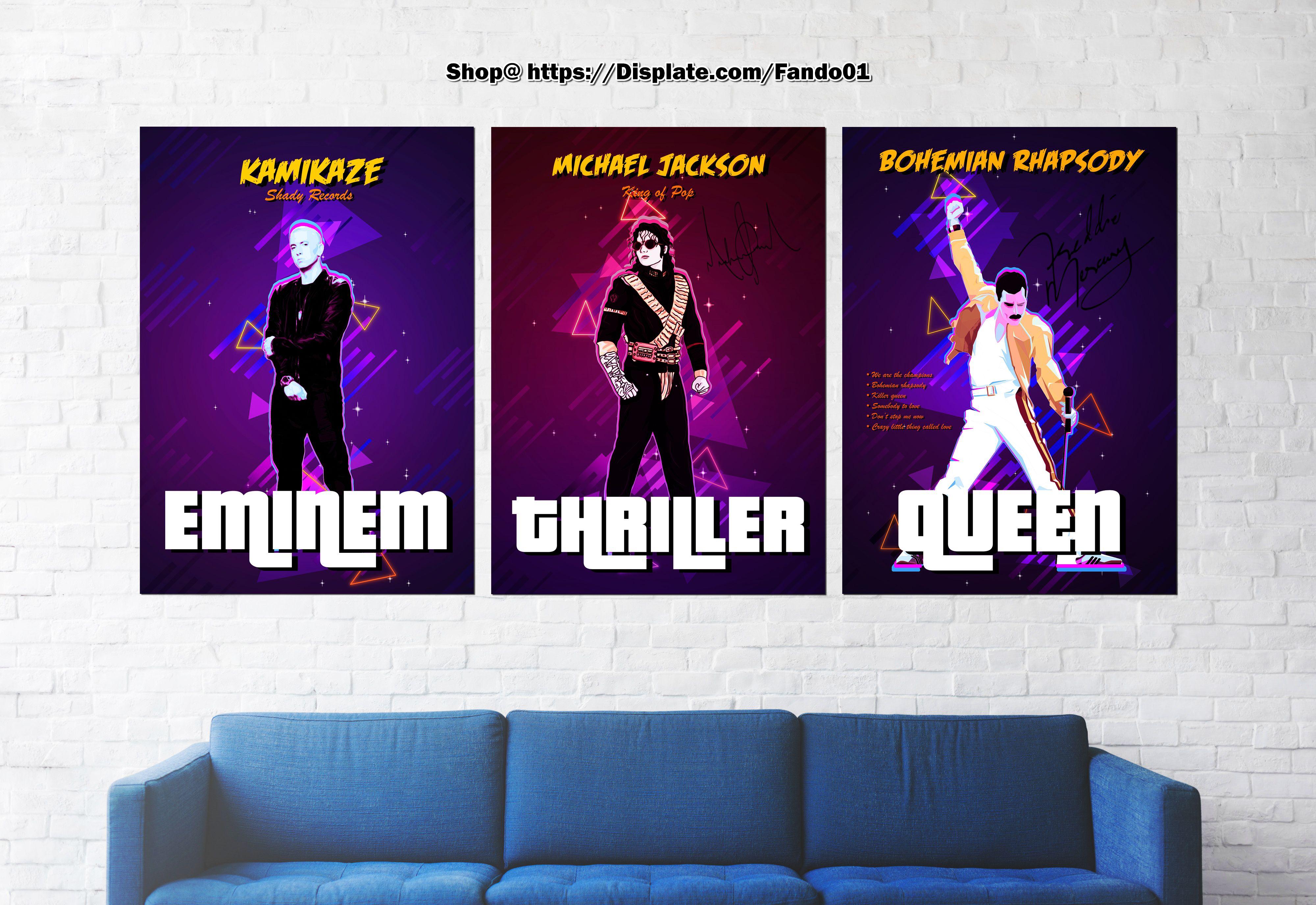 Retro Music Legends | Displate thumbnail