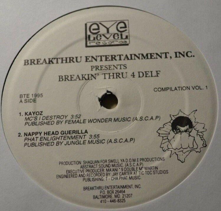 Breakthru Ent – Breakin Thru 4 Delf vinyl record EP rap