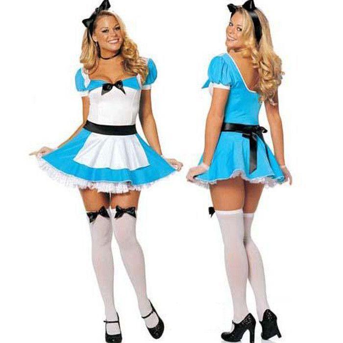 Alice In Wonderland Costume Women Fantasy Cosplay Y Fancy Dress Costumes For Alternative Measures Brides