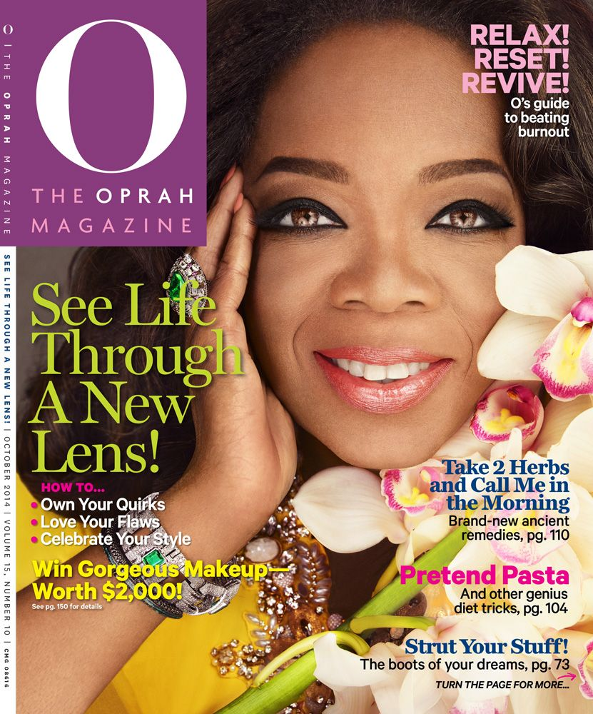 """Pick up our October 2014 issue to discover a new batch of fantastic reads, makeup tricks, insight from the author of """"The Alchemist""""—plus an extra serving of life advice, recipes and savvy kitchen secrets."""