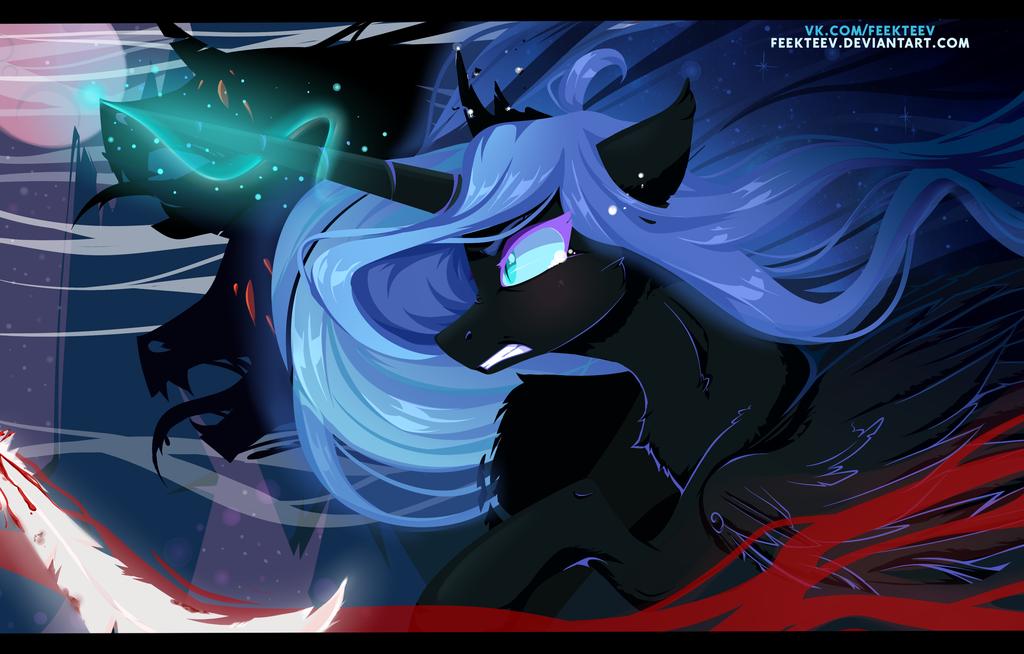 Nightmare Moon And Her Demons By Feekteev Nightmare Moon Mlp Fan Art Art