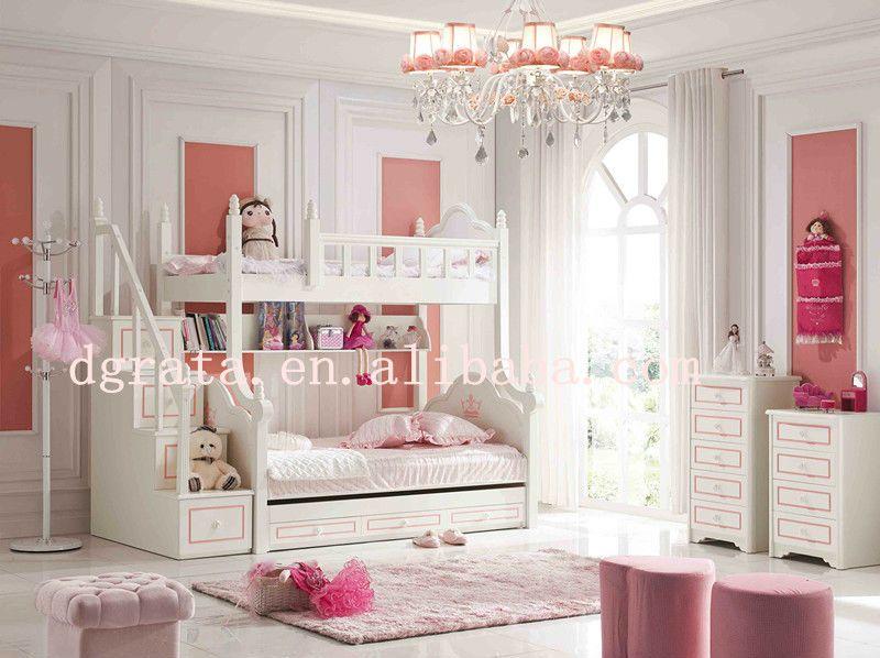 2013 barbie moderna de color rosa de la cama litera fijado