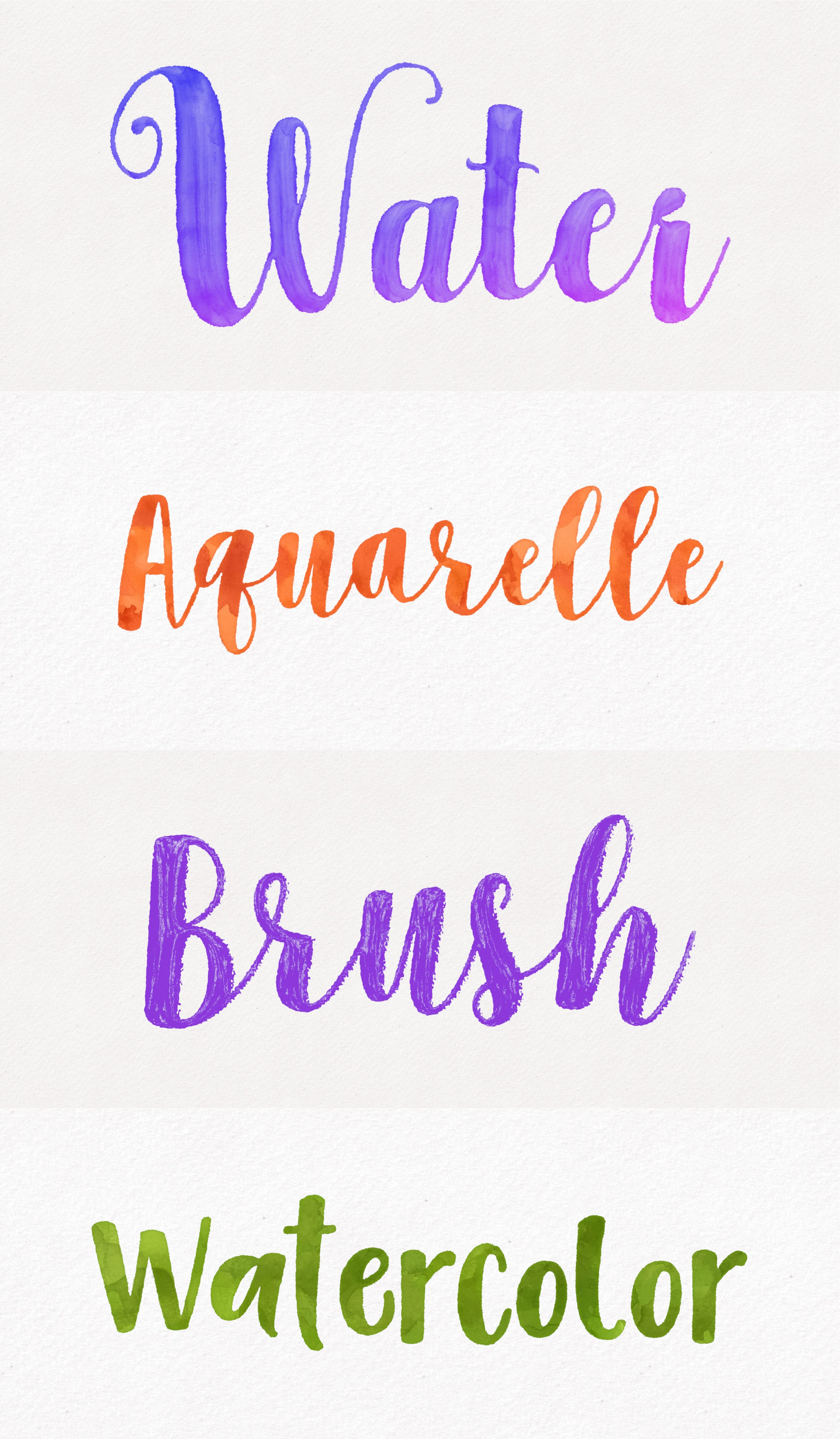 Create Amazing Aquarelle Effects With Arttext Or Letters
