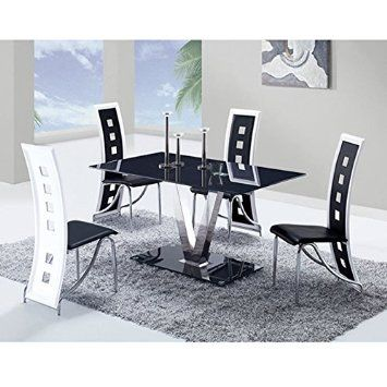 Global Furniture Dining Table With Black Stainless Steel Legs