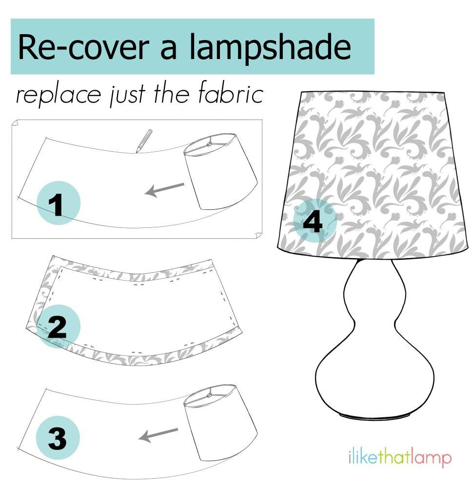 DIY Drum Lampshades | Lampshade makeover, Make a lampshade