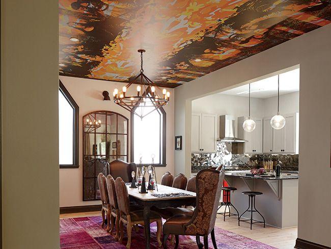 Chaotic Moon Ceo Ben Lamms Dining Room With Warhols Interpretation
