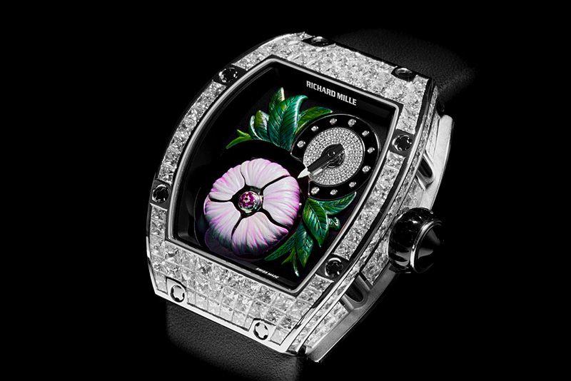 Montre De Luxe Montre Richard Milles Rm19 02 Tourbillon Fleur Photo Sous Copyright On Peut Découvrir Richard Mille Watches Richard Mille Timex Watches