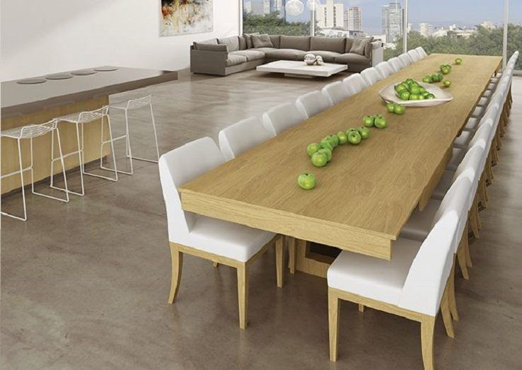 Mega Extendable Dining Table 12 Seat
