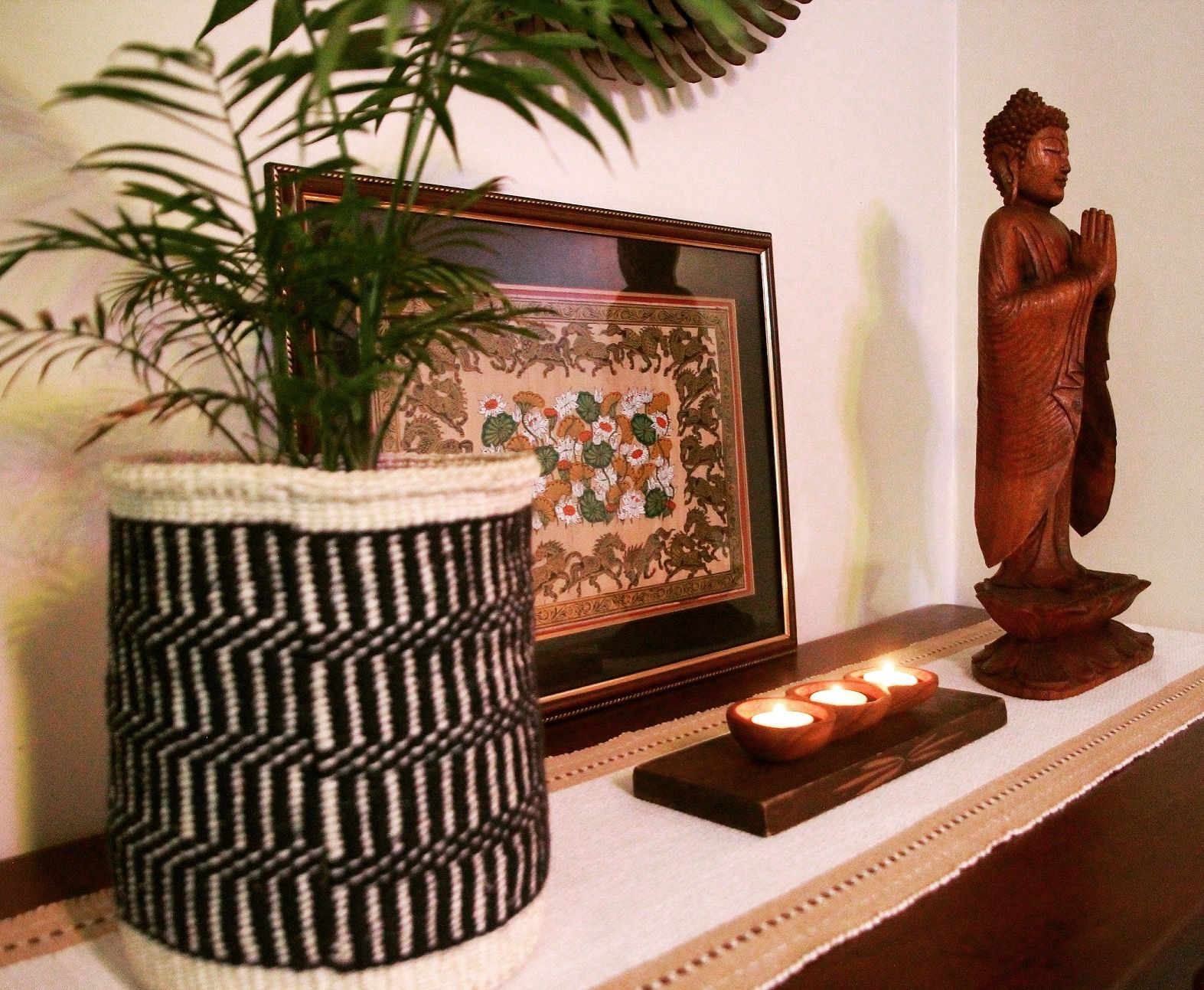 Buddha Peaceful Corner Zen Home Decor Interior Styling: Zen Corner Of Our Home!! Balinese Buddha, Indian Pata