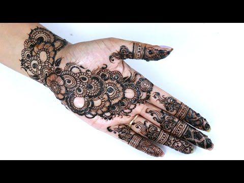 Best Indian Arabic Henna Mehendi Design For Hand Youtube
