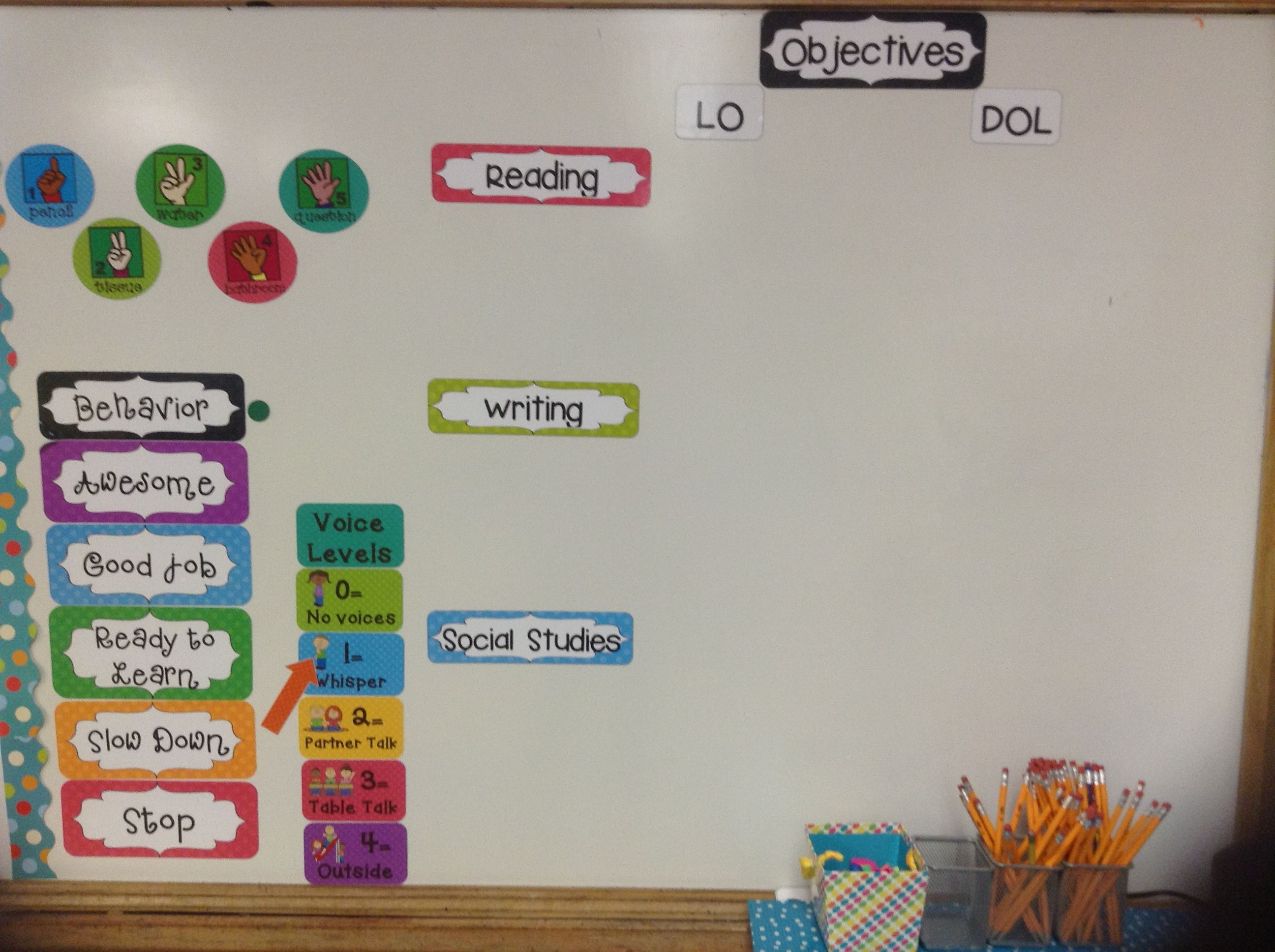Magnetic Classroom Management Board