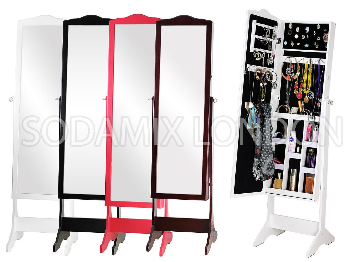 Free Standing Mirror And Jewellery Cabinet Cabinets Matttroy