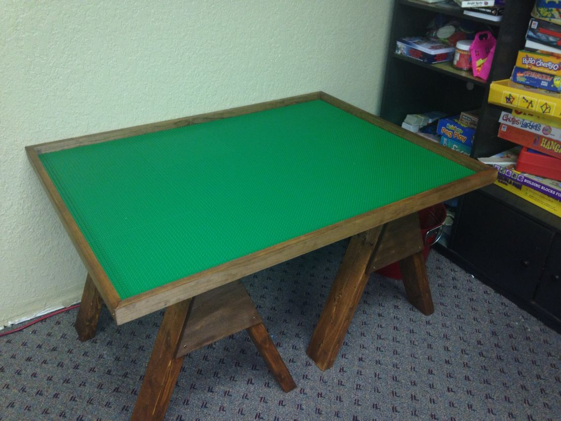 Custom Made Lego Table Used With Social Skills Group Play