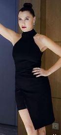 Yasak Elma 65 Bolum Kiyafetleri Ve Sponsorlari Icin Tiklayin Moda Stilleri Siyah Kisa Elbise Peplum Elbise