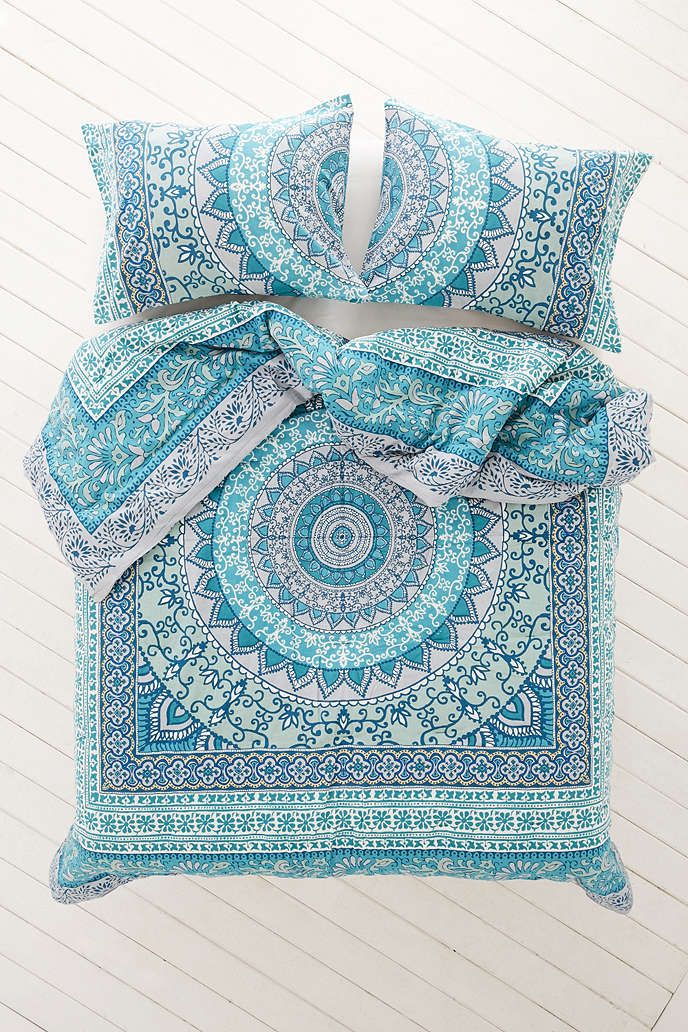 cover with mandala product c medallion covers blue boho bed pillow duvet bedding set green kerala