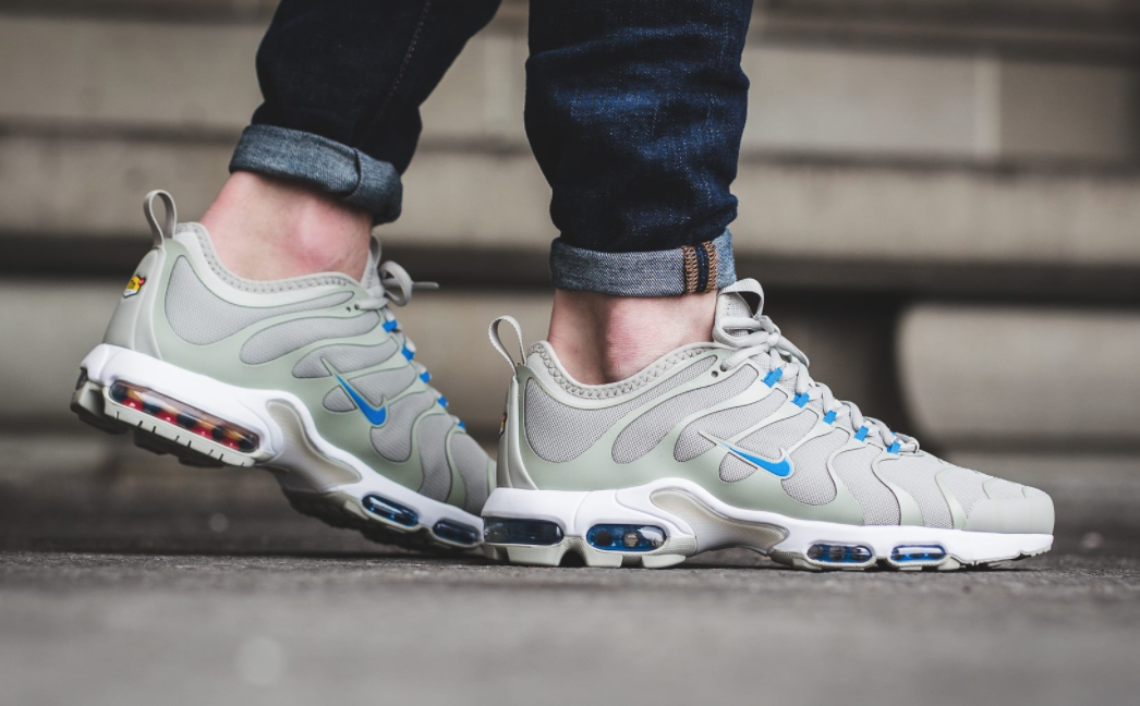 super popular 3e2c3 b6278 The Nike Air Max Plus TN Ultra is rendered in pale greyphoto blue for its  latest colorway this season.