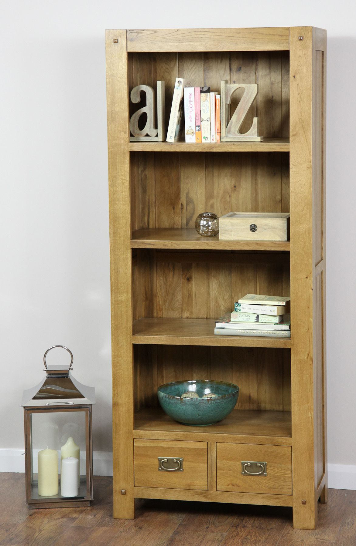 Quercus Solid Oak Furniture Range Oak Cabinet Oak Tall Bookcase Oak Furniture Land Www Oakfurniturelan With Images Solid Oak Furniture Rustic Oak Furniture