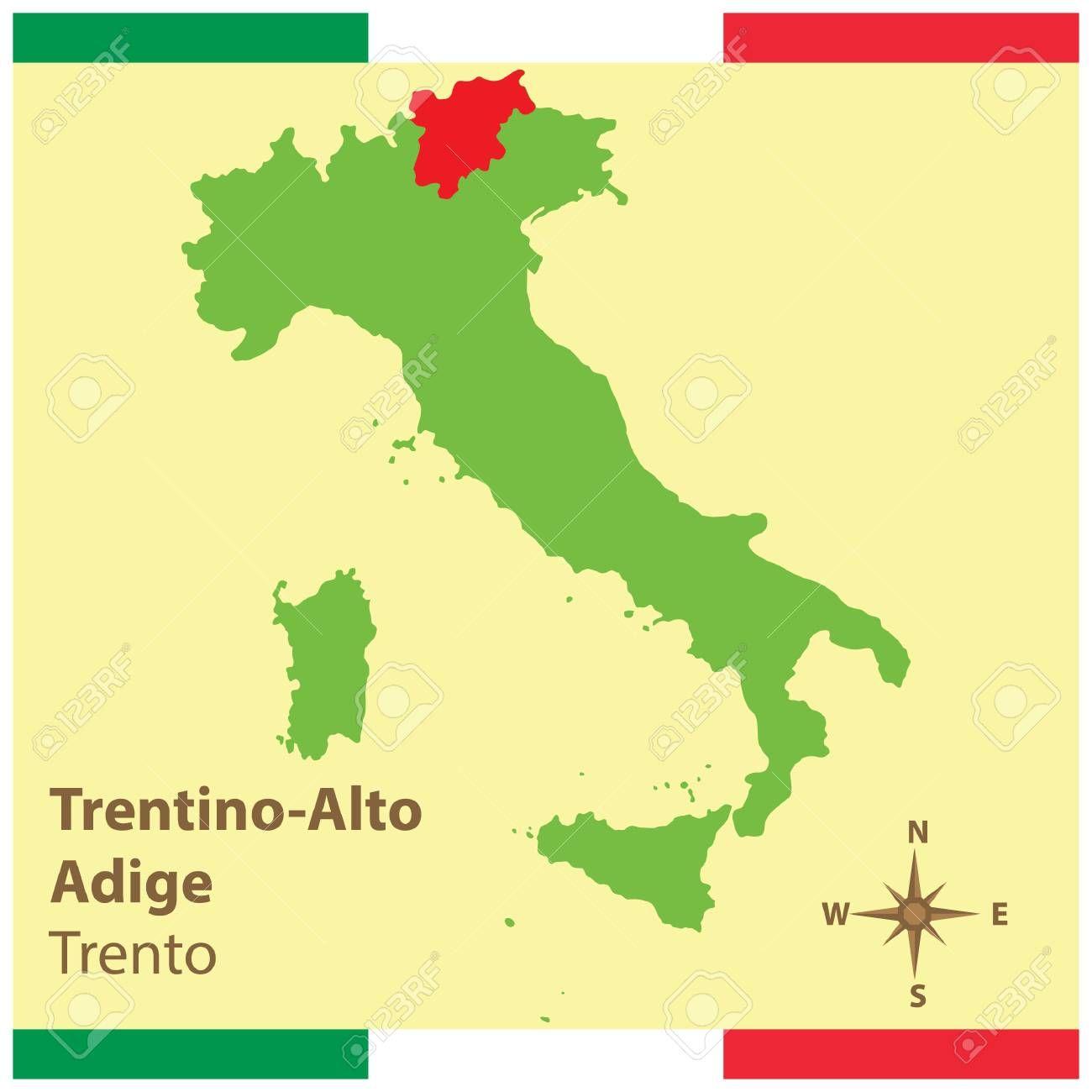 Trentino Alto Adige On Italy Map Ad Alto Trentino Adige