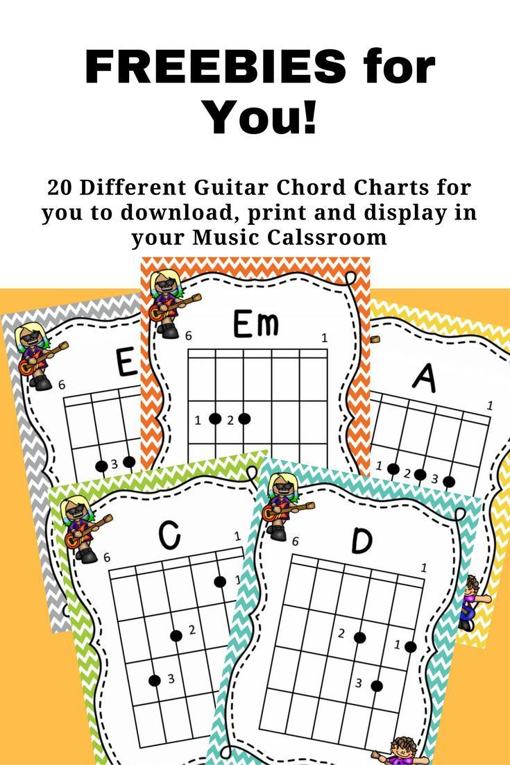 20 Free Printable Guitar Chord Charts By Jooya Teaching Resources
