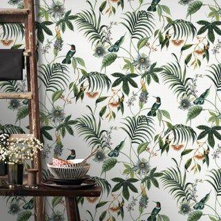 Superfresco Facile Adilah Blanc Tropical Floral Papier Peint