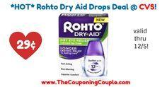 Hot Rohto Dry Aid Drops Only 29 Cvs Drop