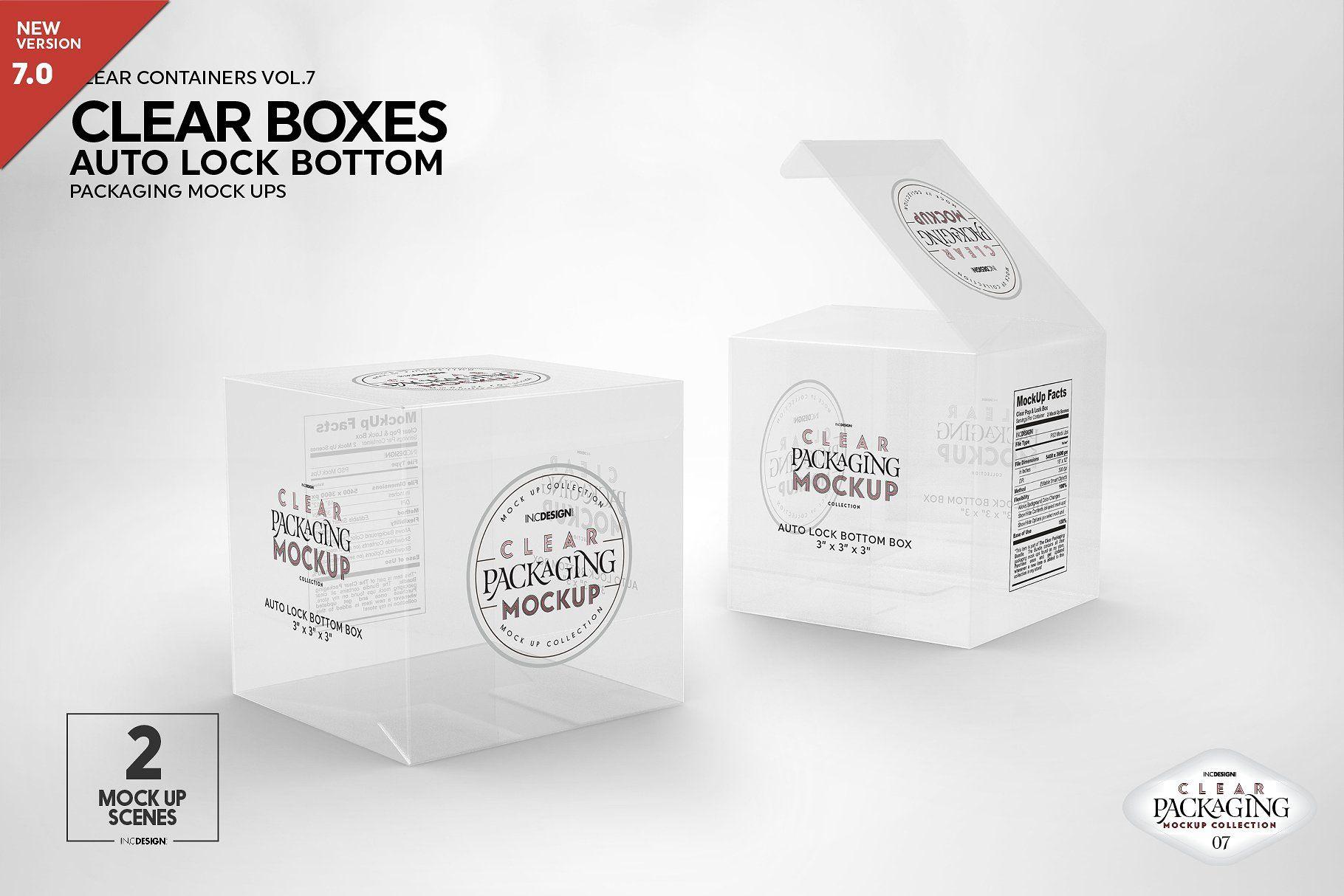 Download Clear Lock Bottom Boxes Mockup Packaging Mockup Design Mockup Free Free Psd Mockups Templates