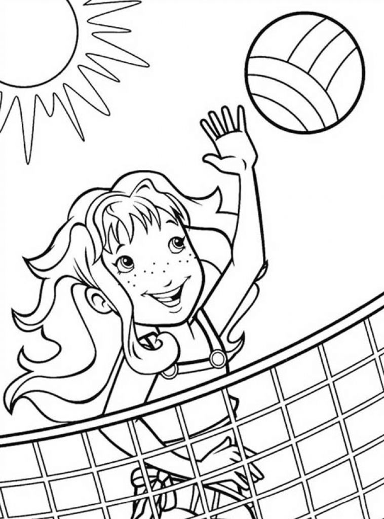 Printable volleyball coloring page